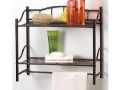 Towel Bar and Double Shelf (Bronze)