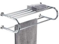 Towel Rack and Shelf (Chrome)