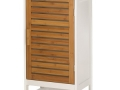 Floor Storage Cabinet (White/Bamboo)