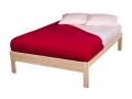 Natural Wood Platform Bed (King)