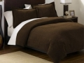 Queen Comforter Set, 3 Piece (Brown)