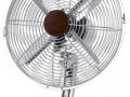 Retro 12″ Fan in Chrome/Red Wood