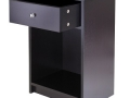 Bedside Table with Drawer (Black and Espresso)