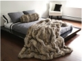 Fox Faux Fur Throw Blanket