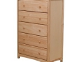 5 Drawer Pine Chest (Natural Wood)