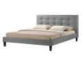 Linen Platform Bed in Grey or Beige (Queen)