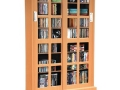 Cabinet with Sliding Glass Doors, Espresso or Maple
