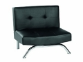 Modern Faux Leather Chair, Black