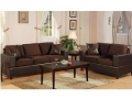 Microfiber Sofa and Loveseat, Chocolate