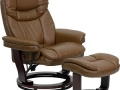 Swiveling Leather Recliner and Ottoman, Multiple Chairs
