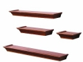 4 Piece Ledge Set, Black or Honey