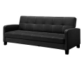 Flip Down Sofa Bed with Arms, Black or Brown
