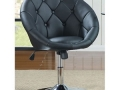 Round Back Swivel Chair, Black or White