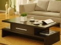 Coffee Table with Drawers, Cappucino