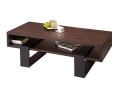 Rectangular Coffee Table, Walnut and Black