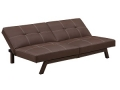 Splitback Futon Sofa Bed, Black or Brown
