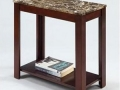 Marble End Table, Cappucino