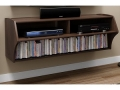 Wall Mounted Media Console, Black or Espresso