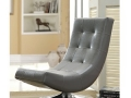 Armless Accent Chair, Grey