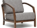 Modern Accent Chair (Grey/Brown)