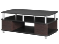 Coffee Table with Storage, Cherry and Black