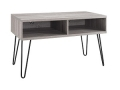 Retro 42 inch TV Stand (Gunmetal/Oak Finish)