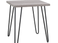 Retro End Table (Gunmetal/Oak Finish)