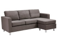 Microfiber Sectional Sofa (Grey)