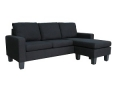 B00PJGEP3I Microfiber Sectional Sofa (Black)