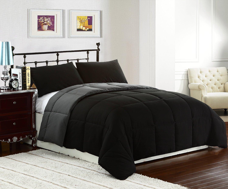King Reversible Comforter Set 3 Piece Bachelor On A Budget