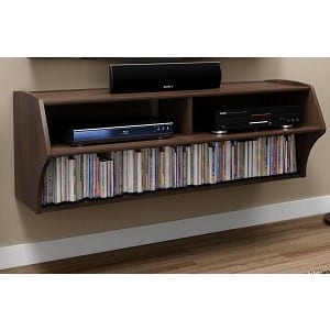 wall mounted media console black or espresso