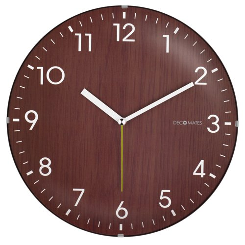 silent wooden wall clock bachelor on a budget
