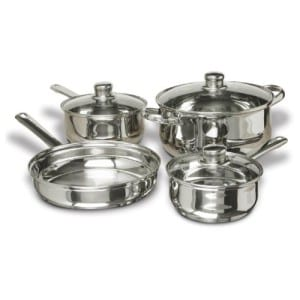Stainless Steel Pots and Pans Set, 7 Piece