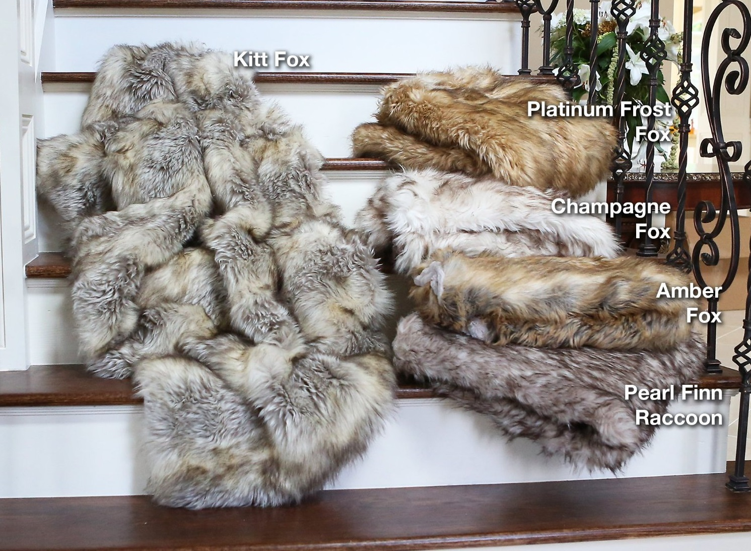 Charmant Fox Faux Fur Throw Blanket