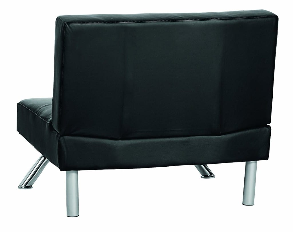Black Faux Leather Chair: Modern Faux Leather Chair, Black