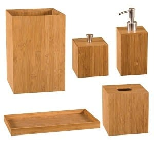 Vanity set bamboo bachelor on a budget for Bath accessories sale