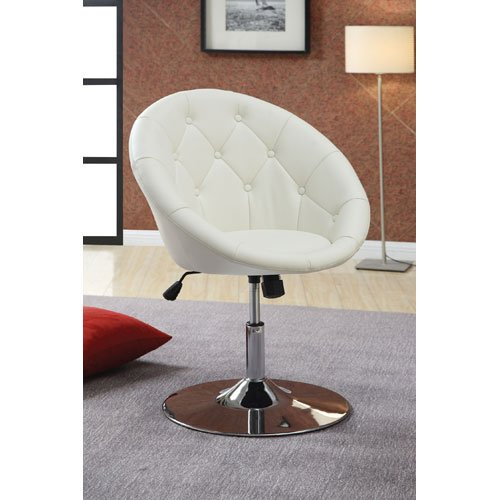 Round Back Swivel Chair Black Or White Bachelor On A Budget