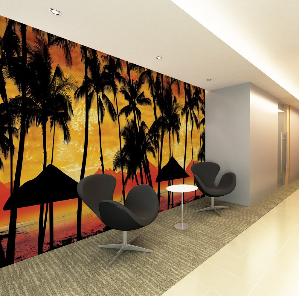 Sunset Mural from Scarface Bachelor A Bud & Scarface Wall Mural u2013 Wall Murals Ideas