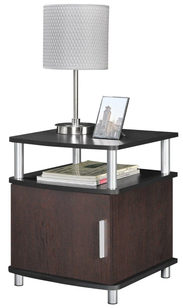 End Table With Storage Cherry And Black Bachelor On A