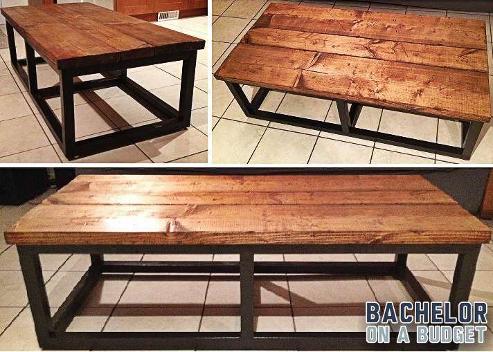 . DIY Coffee Table  Modern with Reclaimed Wood Look  Under  60