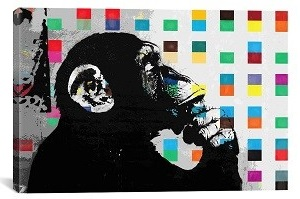 Thinker Monkey Canvas Print