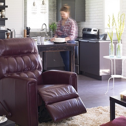 Bachelor Pad Leather Chair Brown