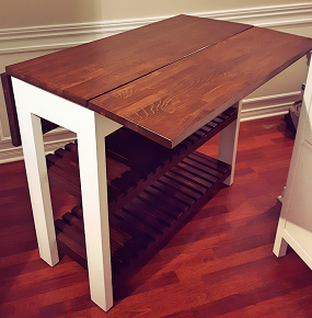 DIY Kitchen Island Drop Leaf 1