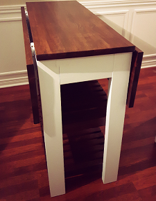drop leaf kitchen table DIY Drop Leaf Kitchen Island / Cart   Bachelor on a Budget drop leaf kitchen table