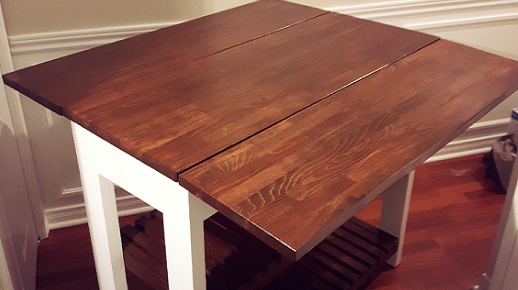 DIY Kitchen Island Drop Leaf 3