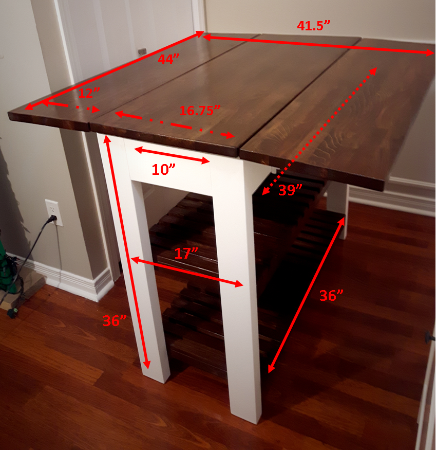 DIY Drop Leaf Kitchen Island / Cart - Bachelor on a Budget